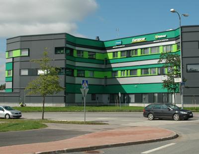 Liikerakennus Europcar Oy:lle Vantaalle