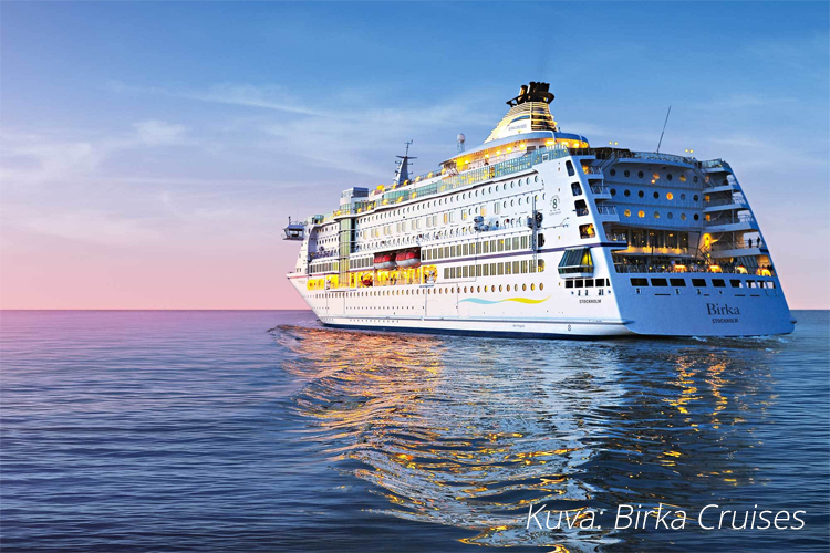 Birka Cruises laivan vihersisustus