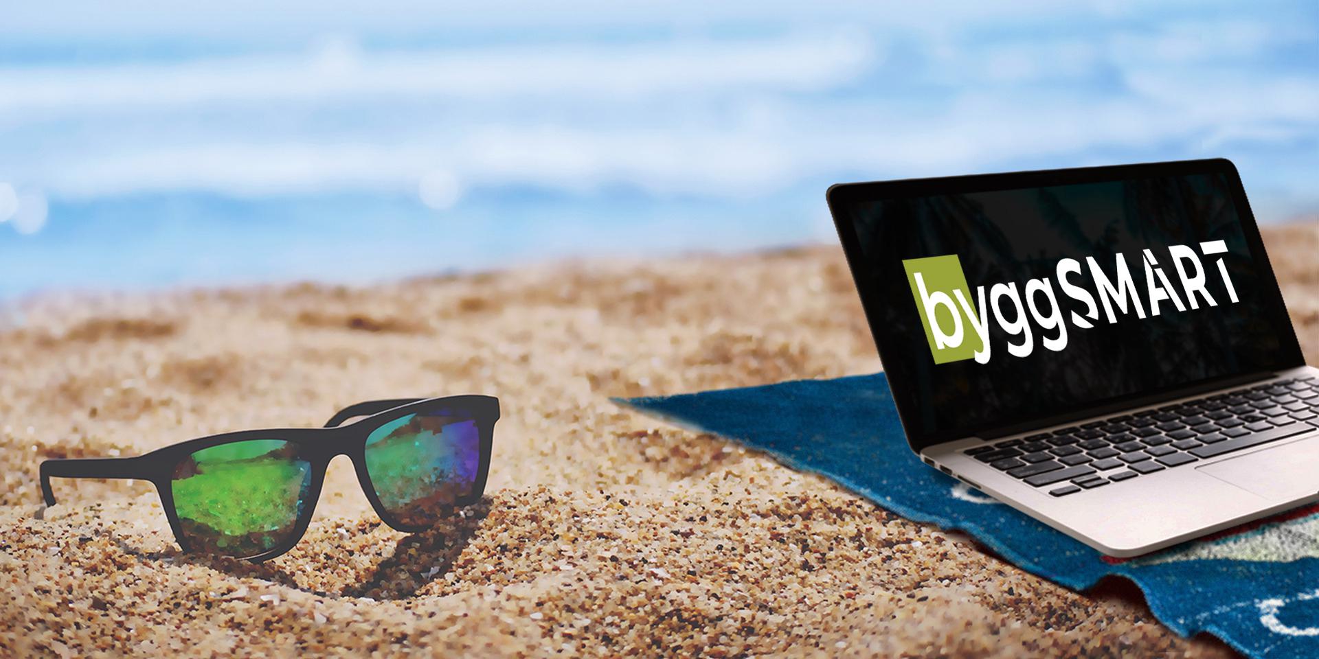 ByggSMART-tallenteita voi katsoa vaikka rannalla