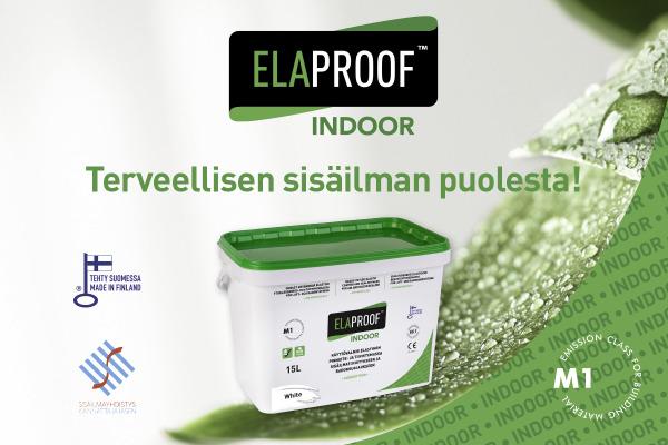 ElaProof Indoor - M1-hyväksytty tuote sisäilmatiivistykseen ja radonsuojaukseen