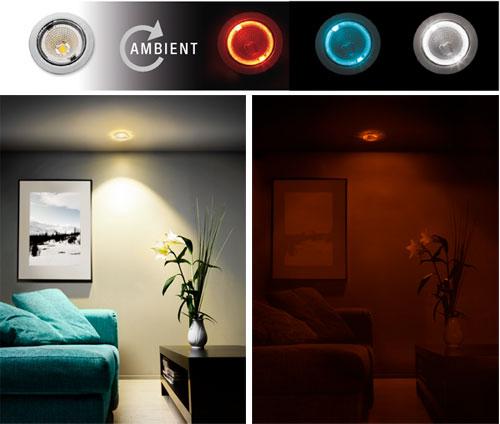 Tehokkaat LED valaisimet AMBIENT toiminnolla